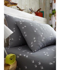 DINOSAUR FEET Single fitted sheet & Pillowcase