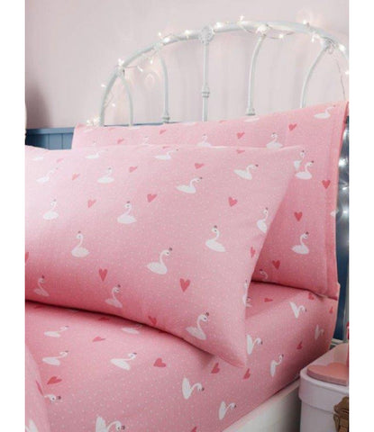 PRINCESS SWAN Single fitted sheet & Pillowcase
