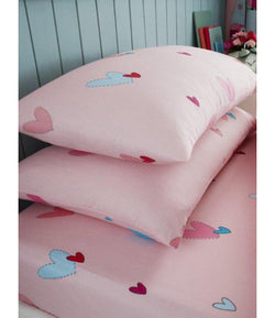 PRE ORDER HEART Single fitted sheet & Pillowcase
