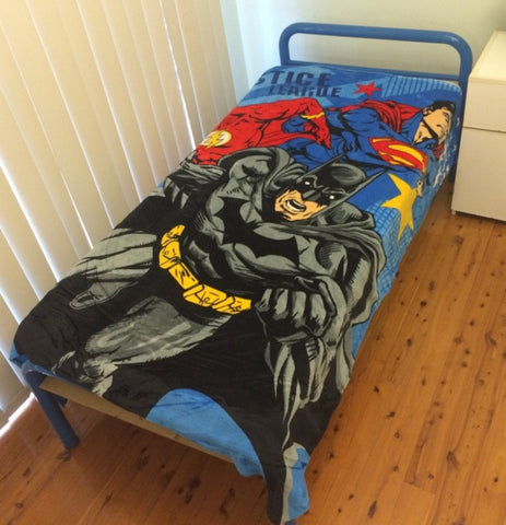 Justice league Batman vs superman single faux mink blanket