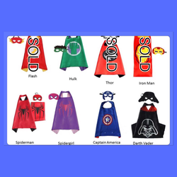 Cape mask set - darth vader star wars left
