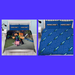Minecraft Double to Queen Quilt Cover Set