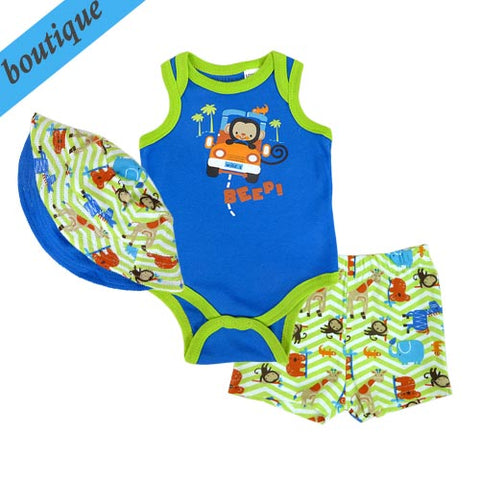 Baby boy summer outfit - 3 piece set