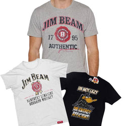 Men's Jim Beam Tee Tshirt WHITE