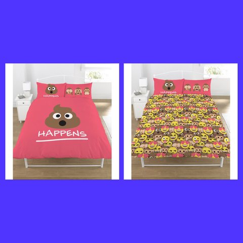 Emoji Pink Double Quilt Cover Set