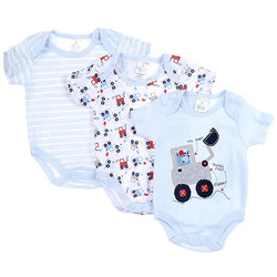 Baby body suits rompers 3 pack BOY