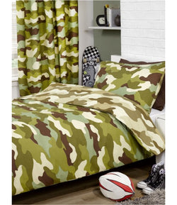 Army Camo Single Quilt Cover Set