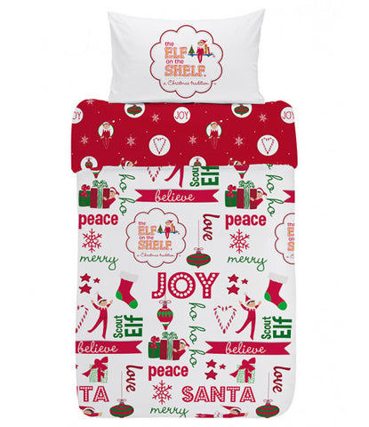PRE ORDER Elf on the shelf toddler cot Christmas Quilt Cover Set -