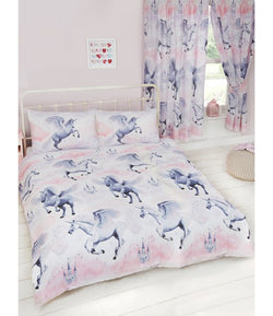 Double to queen Quilt Cover Set - Unicorn Pink