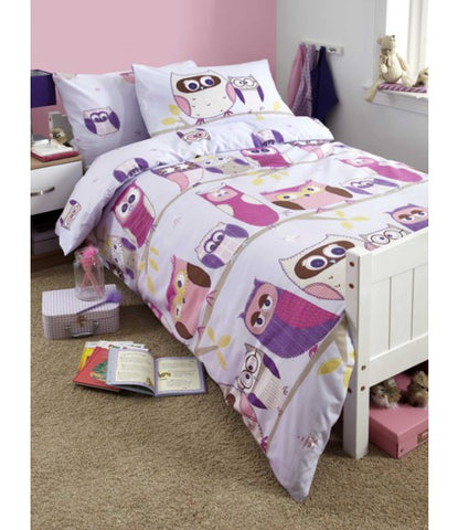 Hoot Owl Owls Single Quilt Cover Set