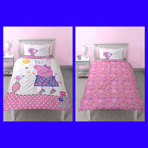 Peppa Single Quilt Cover Set