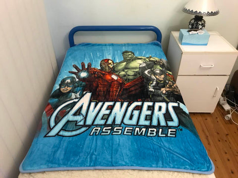 PRE ORDER Avwngers marvel Throw Size Faux Mink Blanket