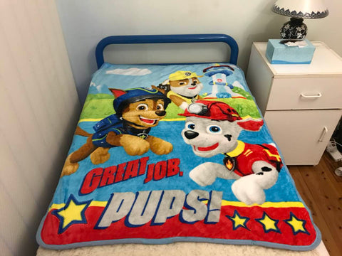 Paw Patrol Light Throw Size Faux Mink Blanket