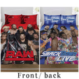WWE reversible double to queen quilt cover set