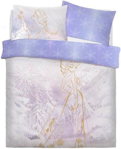 Frozen Rose Gold Double to Queen Quilt Cover Set