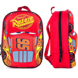 Cars McQueen 3D Licensed Backpack Red 35cm