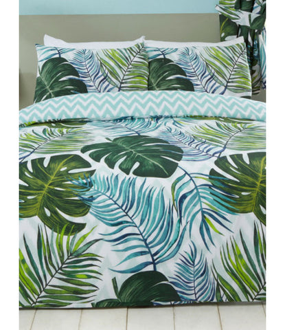 Tropical Palms Double to Queen Quilt Cover Set