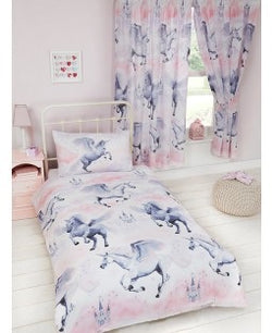 Unicorn Pink Single Quilt Cover Set