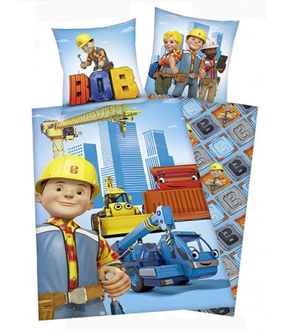 Bob The Builder Single Quilt Cover Set EURO CASE