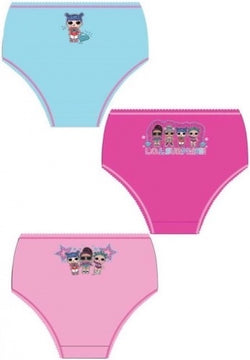 LOL SURPRISE DOLLS GIRLS - 3 pack Underwear Undies
