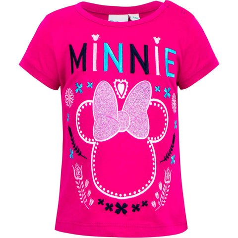 Minnie Mouse Licensed Baby Girl T-Shirt Tee Top PINK