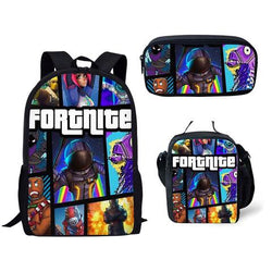 FORTNITE 3 piece backpack set