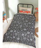 National Geographic Raptor Dinosaur Single Quilt Cover Set
