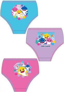 BABY SHARK GIRLS - 3 pack Underwear Undies