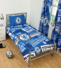 "Chelsea FC Patch ""Reversible"" Football Single Quilt Cover Set"