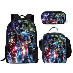 Avengers 3 Piece Backpack Set (Cooler bag, Pencil Case)