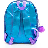 Frozen Glitter Pom Poms Licensed Backpack 38cm BLUE