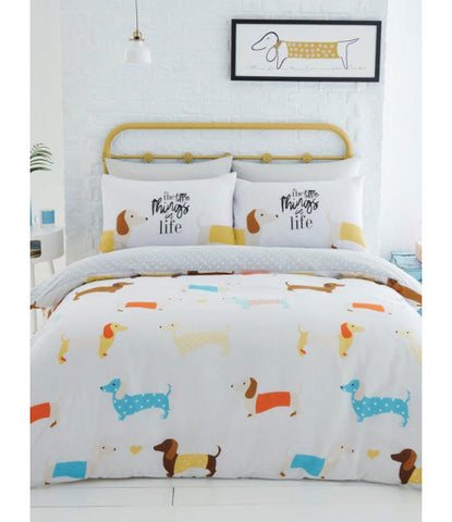 SAUSAGE DOG King Size Quilt Cover Set