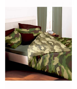 PRE ORDER Army Camo Double to Queen Quilt Cover Set