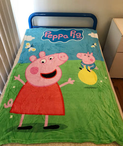 Peppa Throw Size Faux Mink Blanket