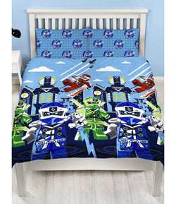 Double to Queen Quilt Cover Set - Lego Ninjago POLYESTER