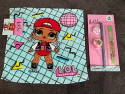 LOL Surprise Dolls Face Washer & Stationery Set