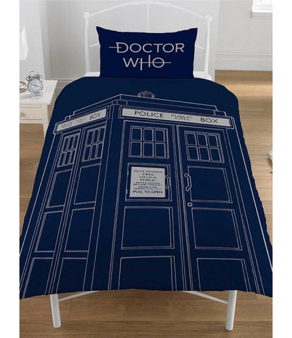 Dr Who Single Quilt Cover Set