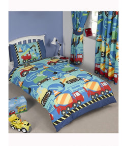 TRUCKS UNDER CONSTRUCTION Single Quilt Cover Set