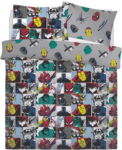 Marvel Avengers Double to Queen Quilt Cover Set