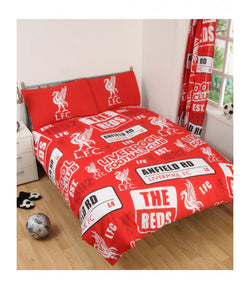 "Liverpool FC Patch ""Reversible"" Double to Queen Quilt Cover Set"