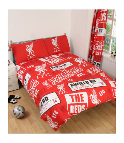 PRE ORDER Liverpool Double to Queen Quilt Cover Set