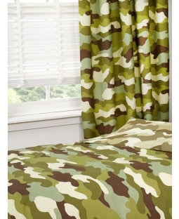 PRE ORDER Camo Camouflage Curtains 72 inch drop