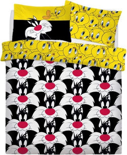 PRE ORDER Looney Tunes Sylvester & Tweety Double to Queen Quilt Cover Set