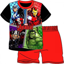 Marvel Comics AVENGER Summer pjs Licensed Pjs