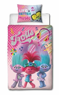 Trolls 2 Concert Single Quilt Cover Set