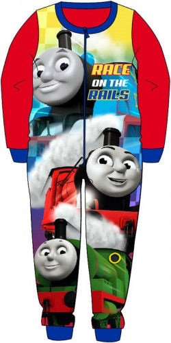 Thomas Train Fleece Onesie 3/4