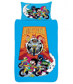 Teen Titans Go! Justice League Single Quilt Cover Set