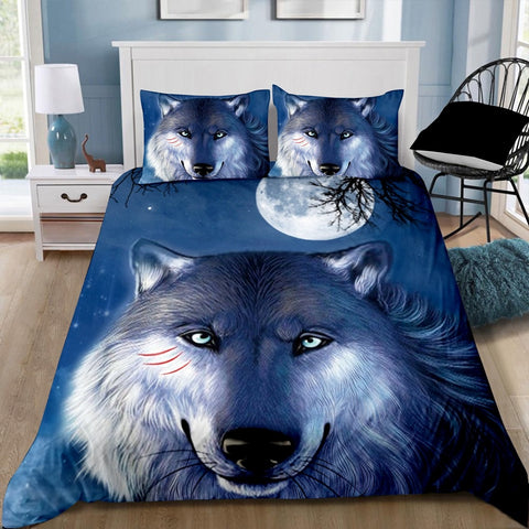 Wolf Moon Quilt Cover Set