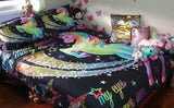 Unicorn Black Quilt Cover Set