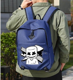 PRE ORDER Marshmello Backpack - Navy Blue - Glow in the dark